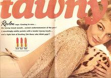 "1964 Revlon ad: ""tawny"""