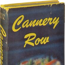 <cite>Cannery Row</cite> by John Steinbeck, first editions