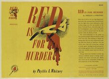 <cite>Red is for Murder</cite>