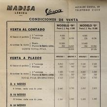 Madisa Lérida Vespa conditions of sale