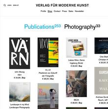 Verlag für moderne Kunst website
