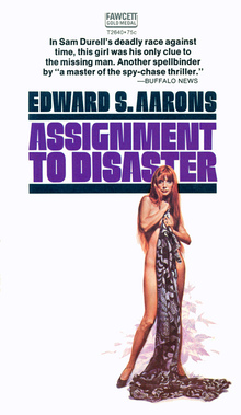 Edward S. Aarons paperback covers, Fawcett Gold Medal editions, 1969–72