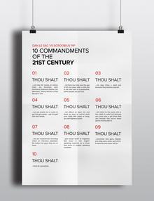 10 Commandments of the 21st Century
