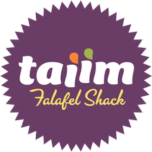Taiim Falafel Shack logo and website