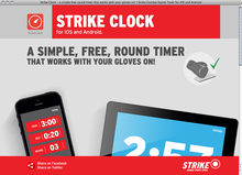 <cite>Strike Clock</cite> website