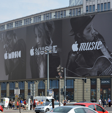 Apple Music billboard ad, Berlin