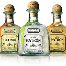 Patrón logo and bottles