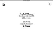 Helle Willemstein website