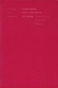<cite>Stil und Buch</cite> by Gustav Stresow