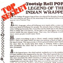 "Tootsie Roll Pops ""Legend of the Indian Wrapper"""