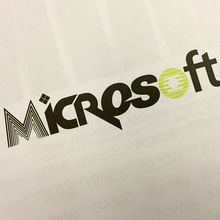 Microsoft logo mashup (ad in ATypI 2015 program)