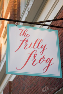The Frilly Frog identity