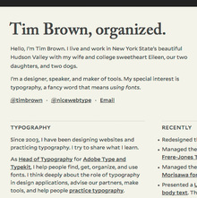 Tim Brown, organized.