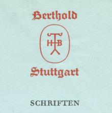 H. Berthold AG letterhead, 1961