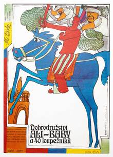<cite>Ali Baba and the Forty Thieves</cite> movie poster (Czechoslovakia)