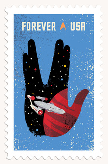 Star Trek postage stamps