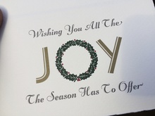"""JOY"" holiday card"