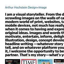 Arthur Hochstein portfolio site