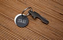 """Skål"" keychain bottle opener"