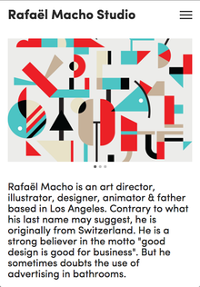 Rafael Macho Studio website