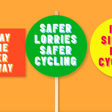 Sign for Cycling campaign