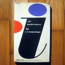 Book cover for <cite>i: six non lectures</cite> by e e cummings