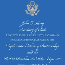 US Secretary of State Diplomatic Invitation