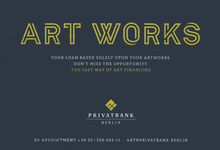 """Art Works"" ad, Privatbank Berlin"