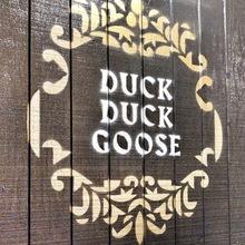 Duck Duck Goose restaurant hoardings
