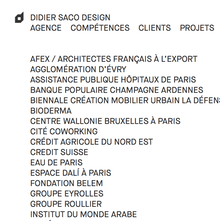 Didier Saco Design website