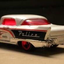 retro police car model