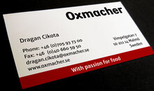 Oxmacher business card