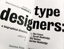 International Handbook of Type Designers