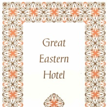 Great Eastern Hotel menu card