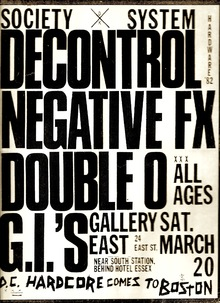 SSD, Negative FX, Double 0, and G.I.'s show flyer