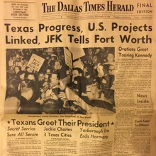 <cite>The Dallas Times Herald</cite>, Nov 22, 1963