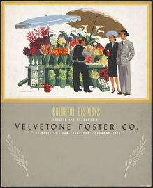 Velvetone Poster Co. advertisting poster