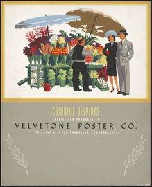 Velvetone Poster Co. advertisting poster