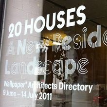 <cite>20 Houses. A New Residential Landscape</cite> exhibition, Wallpaper* Architects Directory