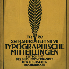 <cite>Typographische Mitteilungen</cite>, volume 17, issue 7, July 1920