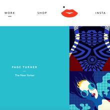Malika Favre portfolio site