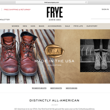 The Frye Company website