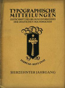 Typographische Mitteilungen, vol. 17, No. 2, February 1920