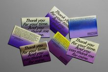 """""""Thank You For Your Time"""" exhibition flyer"""