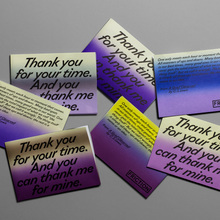 """Thank You For Your Time"" exhibition flyer"