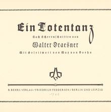 <cite>Ein Totentanz</cite> by Walter Draesner