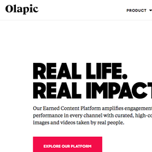 Olapic identity and website (2016)
