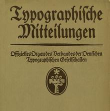 <cite>Typographische Mitteilungen</cite>, Vol. 11, No. 9, September 1914