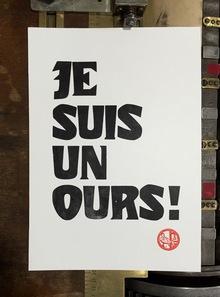 """""""Je suis un ours!"""" poster"""