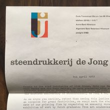 Steendrukkerij de Jong & Co letterhead and poster